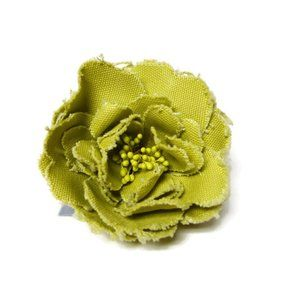 chunky green flower statement brooch